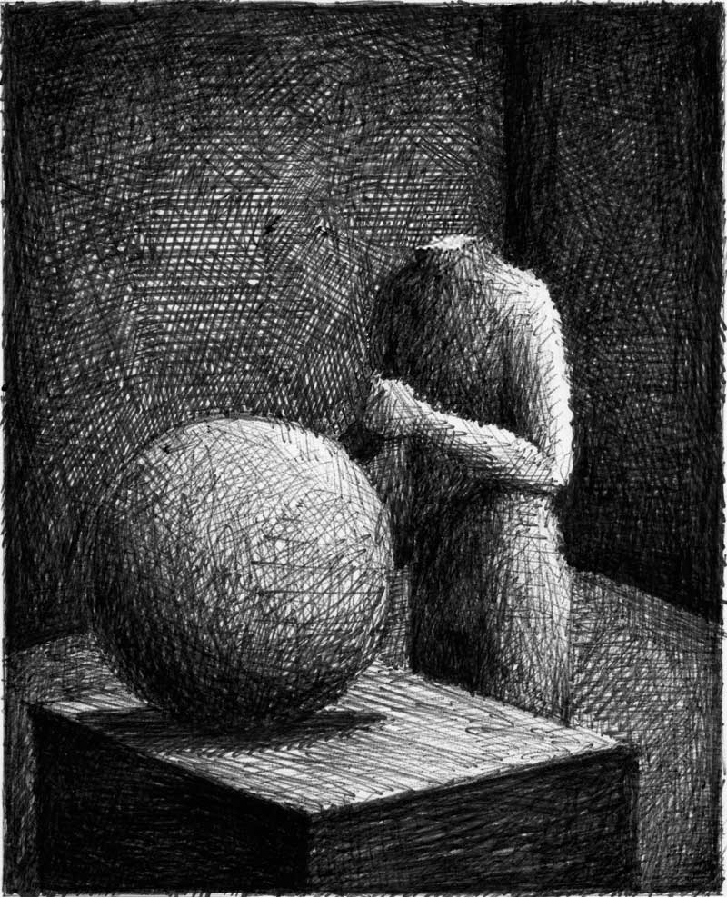drawing, sculptor