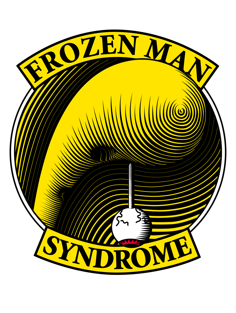 illustration, frozen man